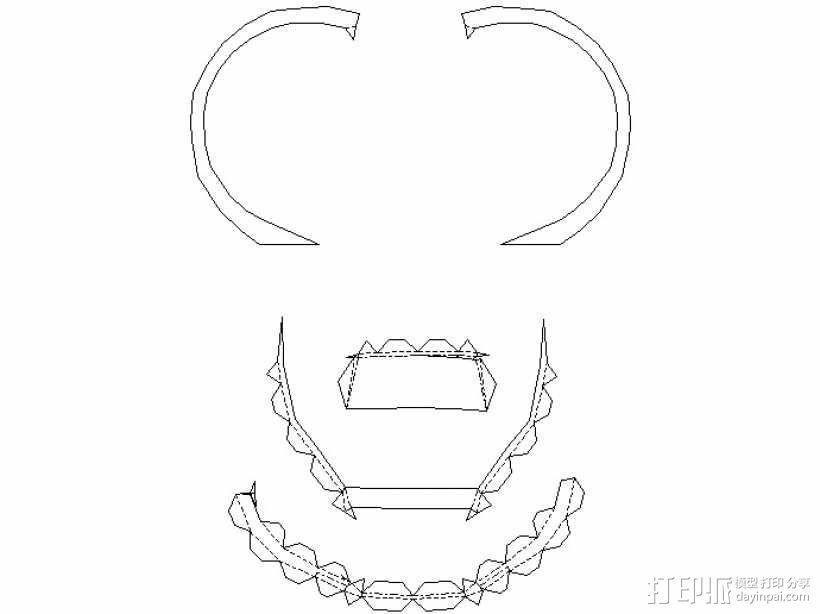 纸质钢铁侠头盔 3D模型  图17