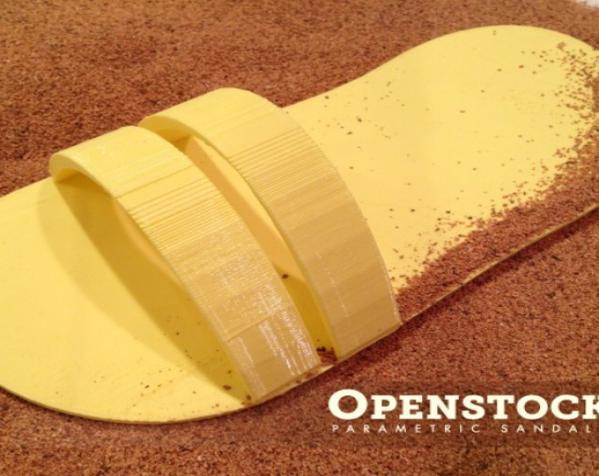沙滩拖鞋 3D模型  图4