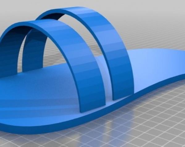沙滩拖鞋 3D模型  图6