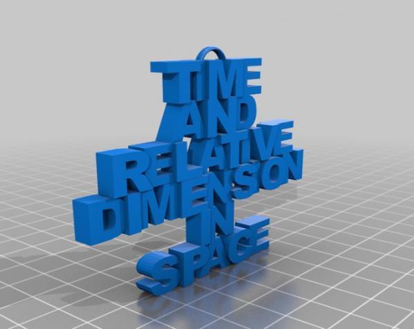 Tardis吊坠 3D模型  图2