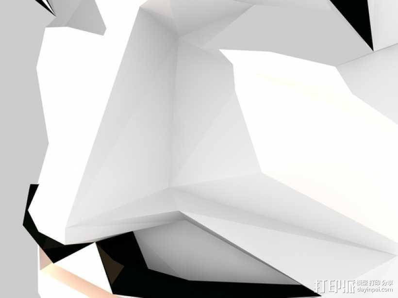 Guy Fawkes福克斯 低面数面具 3D模型  图5