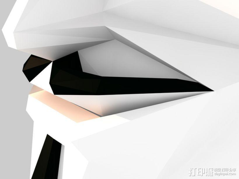 Guy Fawkes福克斯 低面数面具 3D模型  图6