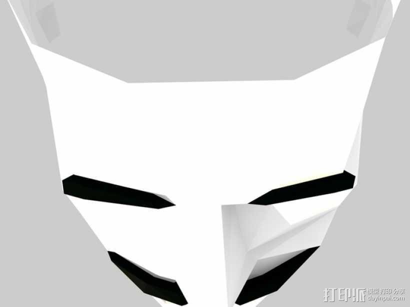 Guy Fawkes福克斯 低面数面具 3D模型  图7