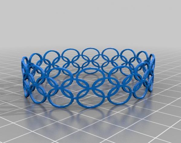 几何图形手镯 3D模型  图2