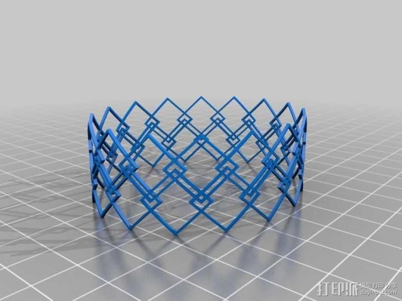 几何图形手镯 3D模型  图1