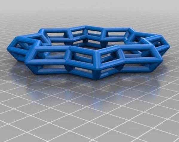 几何镂空手镯 3D模型  图3