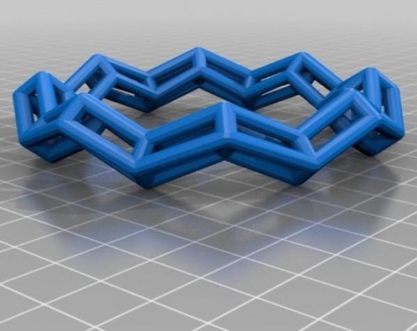 几何镂空手镯 3D模型  图2