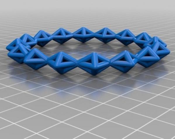 几何镂空手镯 3D模型  图4