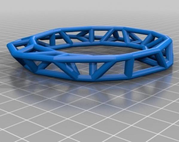 几何镂空手镯 3D模型  图8