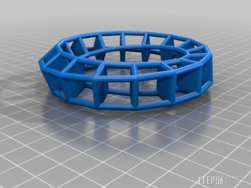 几何镂空手镯 3D模型  图6