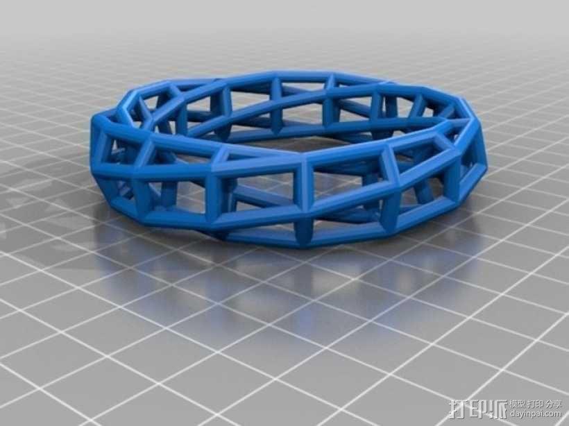 几何镂空手镯 3D模型  图5
