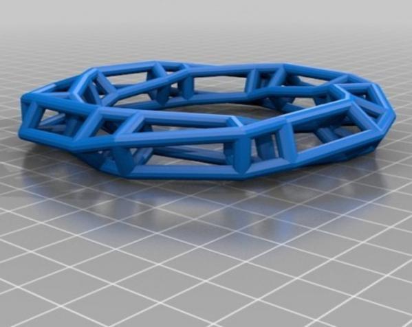 几何镂空手镯 3D模型  图10