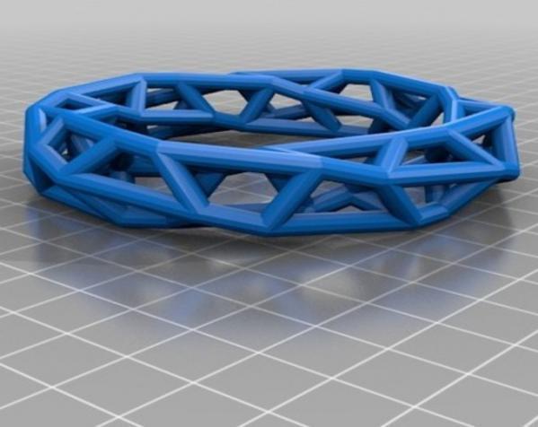 几何镂空手镯 3D模型  图9