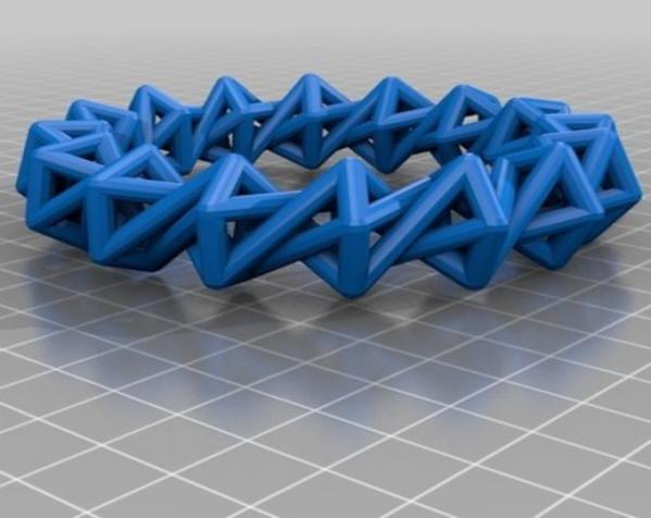 几何镂空手镯 3D模型  图11