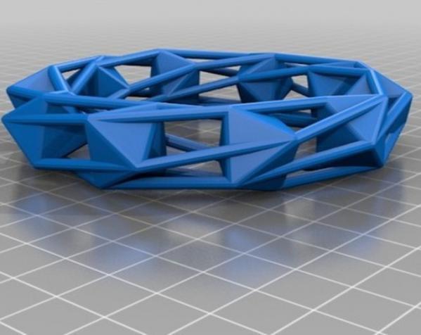 几何镂空手镯 3D模型  图14