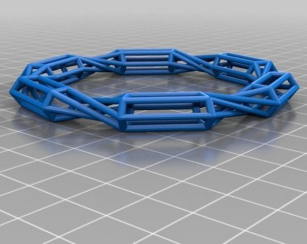 几何镂空手镯 3D模型  图13