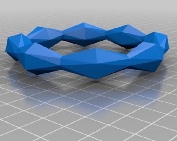 几何镂空手镯 3D模型  图12