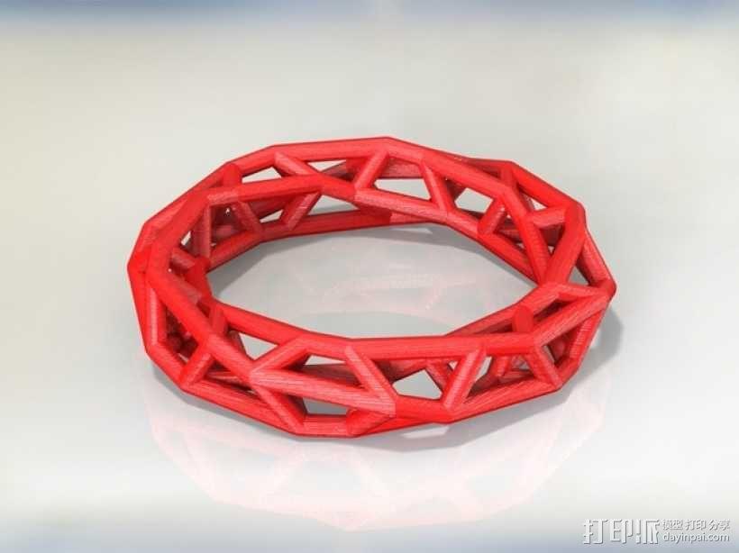 几何镂空手镯 3D模型  图15