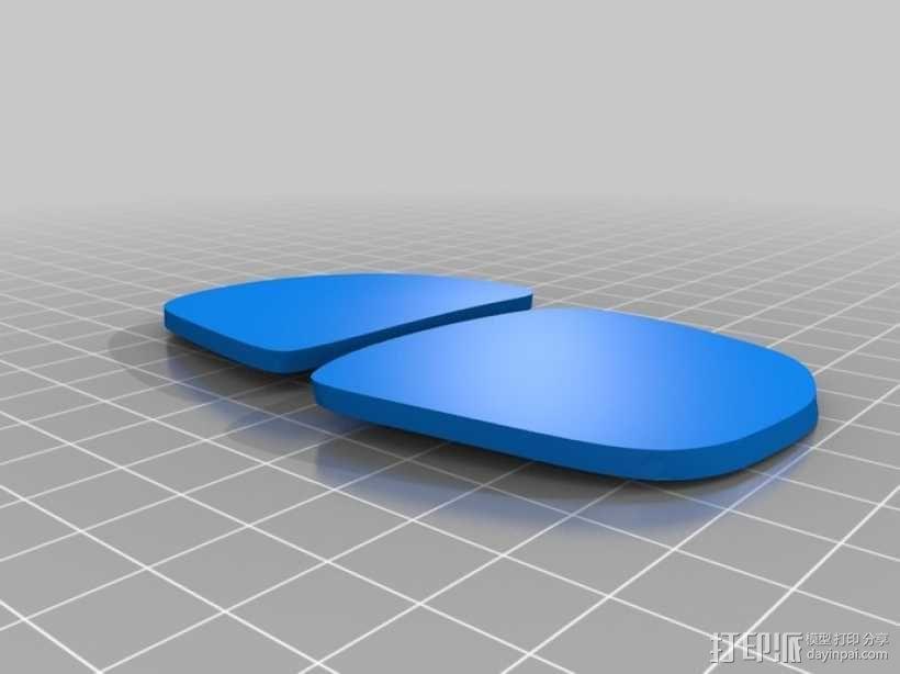 3D打印眼镜 3D模型  图1