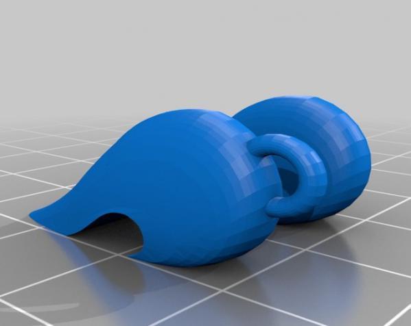心形项链坠 3D模型  图3