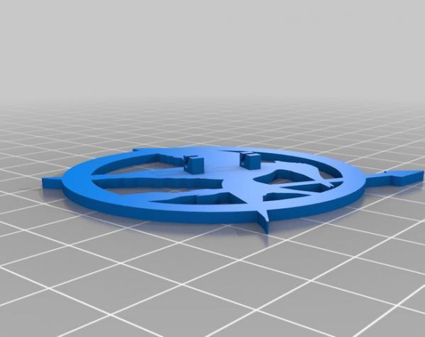 饥饿游戏 胸针  3D模型  图1