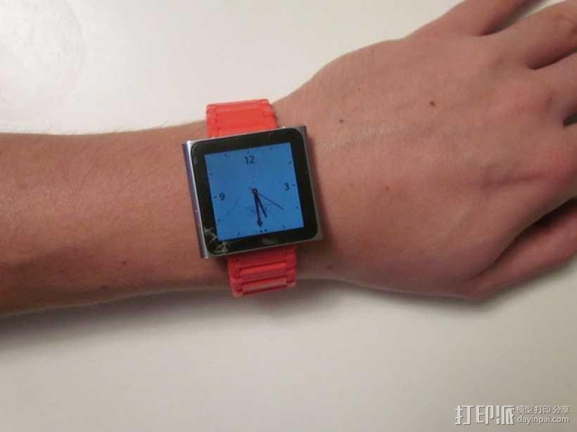Nano 手表带 3D模型  图1