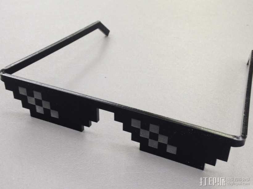 Deal With It像素眼镜 3D模型  图1