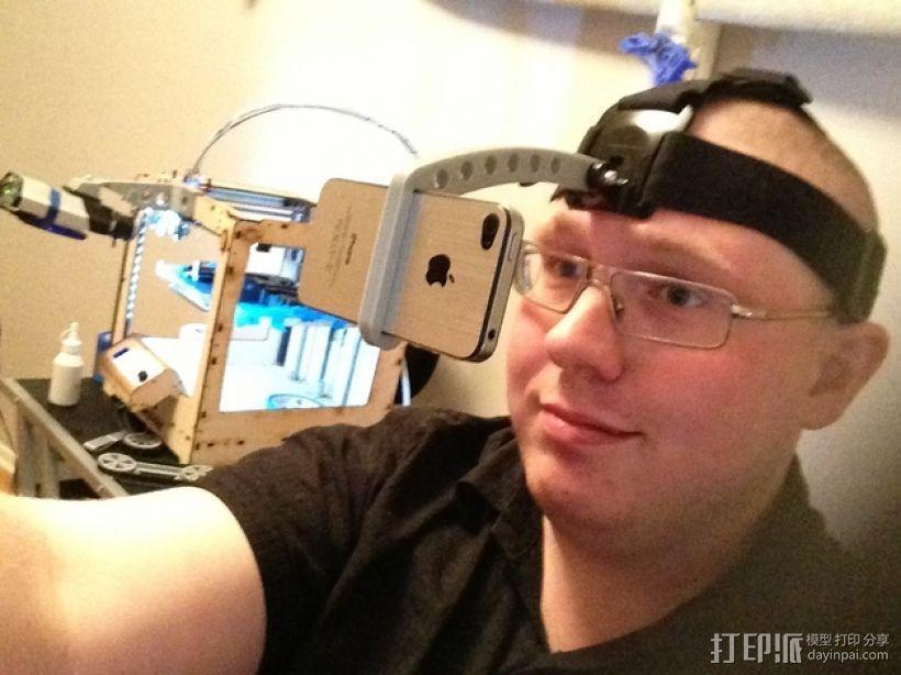 iPhone GoPro头戴式支架 3D模型  图2