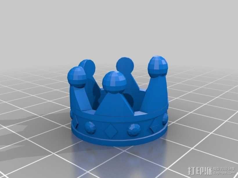 皇冠戒指 3D模型  图1