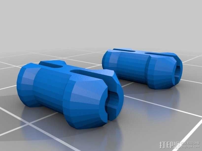 齿轮心别针 3D模型  图2