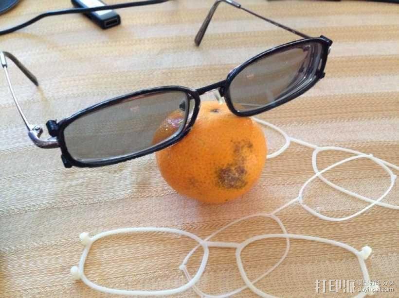 3D眼镜 眼镜框 3D模型  图1