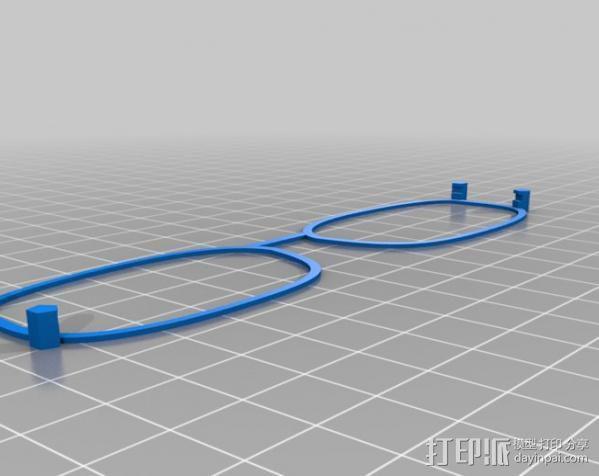 3D眼镜 眼镜框 3D模型  图2