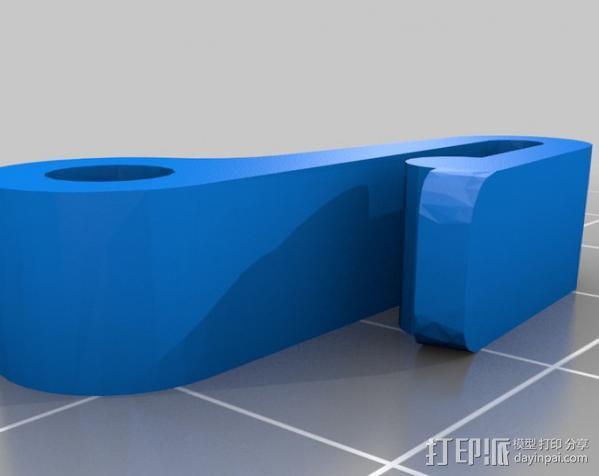 钥匙圈挂钩 3D模型  图2