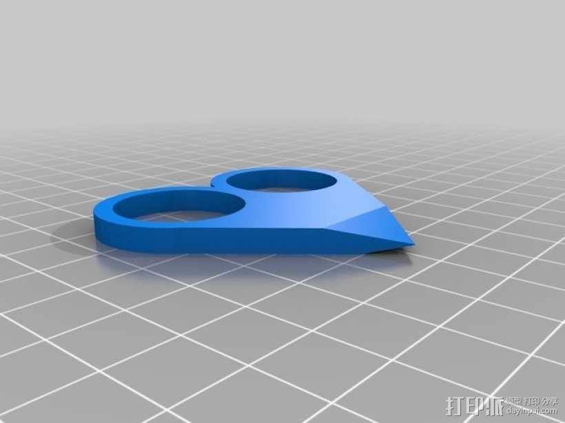 心形吊坠 3D模型  图1