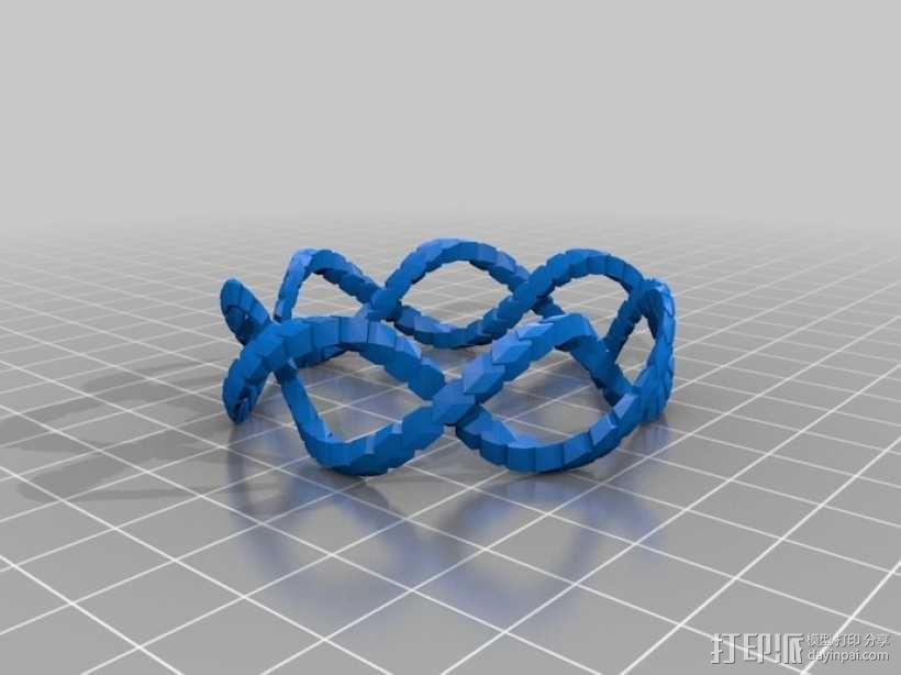螺旋 手镯 3D模型  图1
