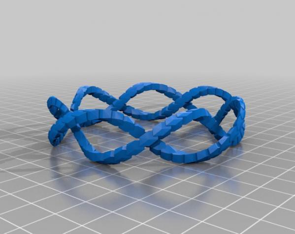 螺旋 手镯 3D模型  图3