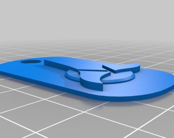Klingon狗狗标签 3D模型  图2