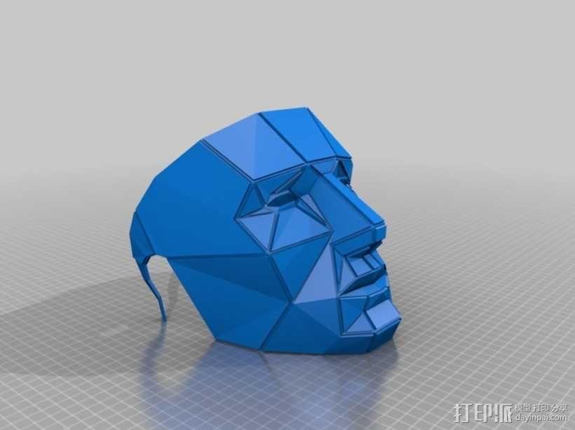 低面数面具 3D模型  图4