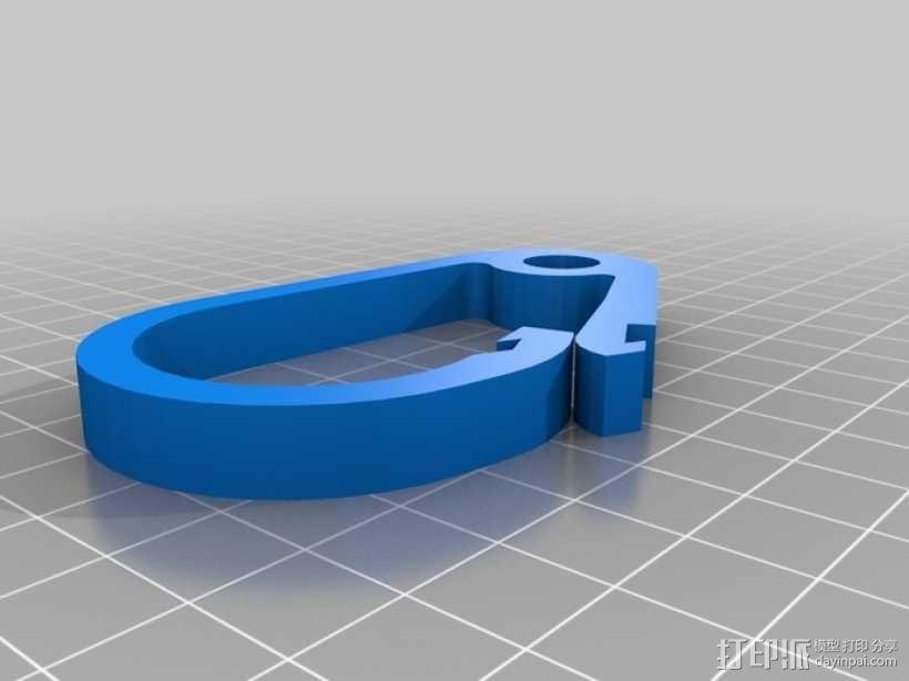 登山扣 钥匙圈 3D模型  图1
