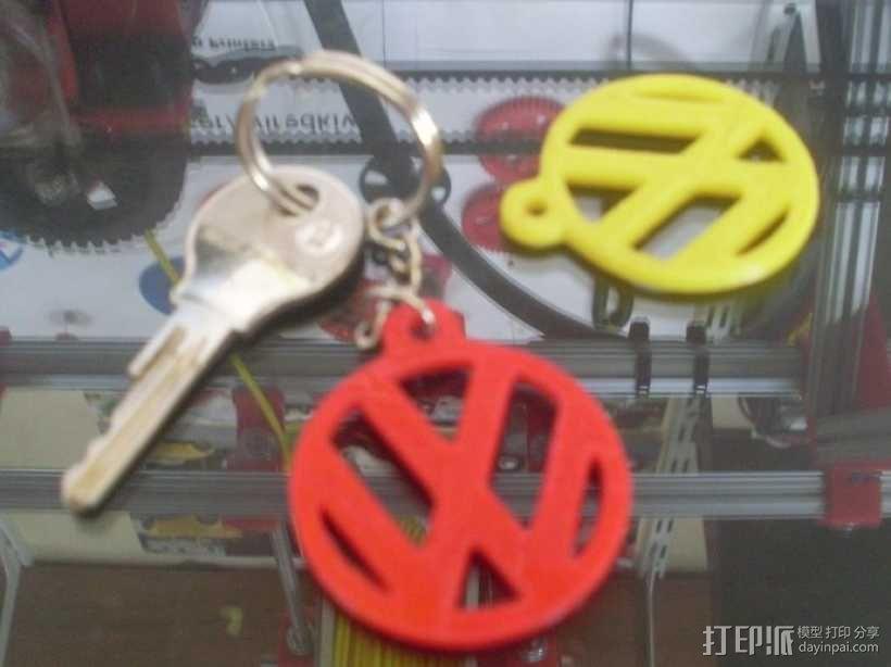 大众汽车 甲壳虫汽车 钥匙坠  3D模型  图1