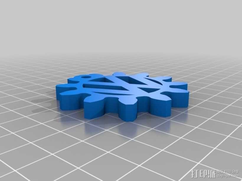 大众汽车 甲壳虫汽车 钥匙坠  3D模型  图4