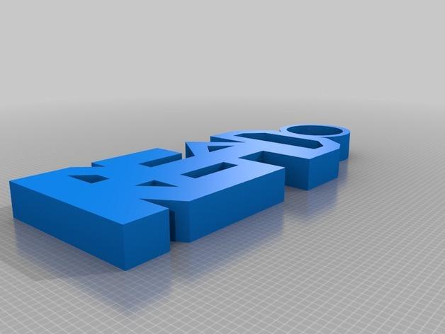 Read钥匙坠  3D模型  图1