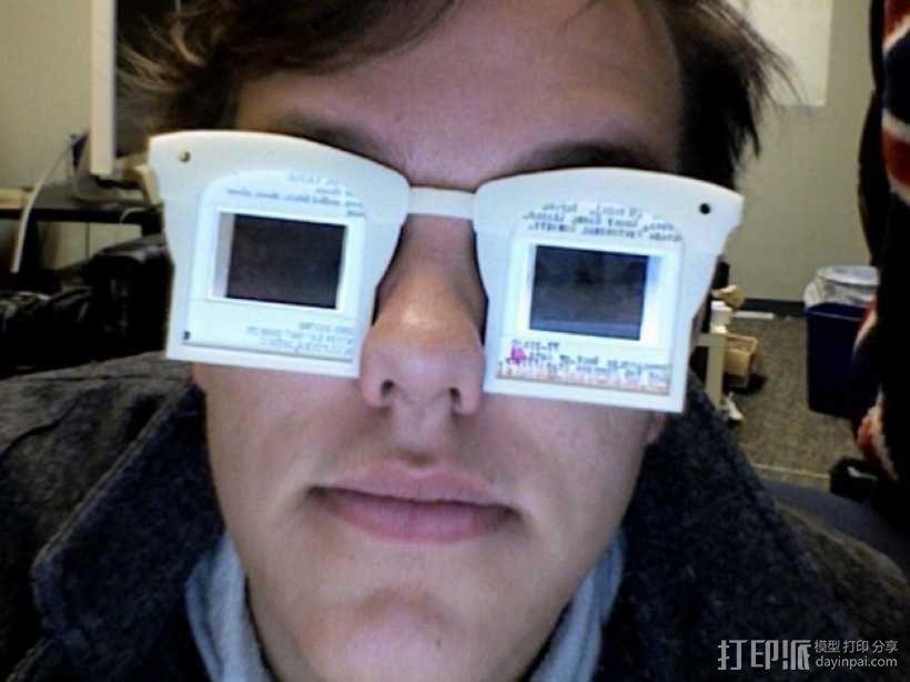 幻灯片眼镜 3D模型  图1