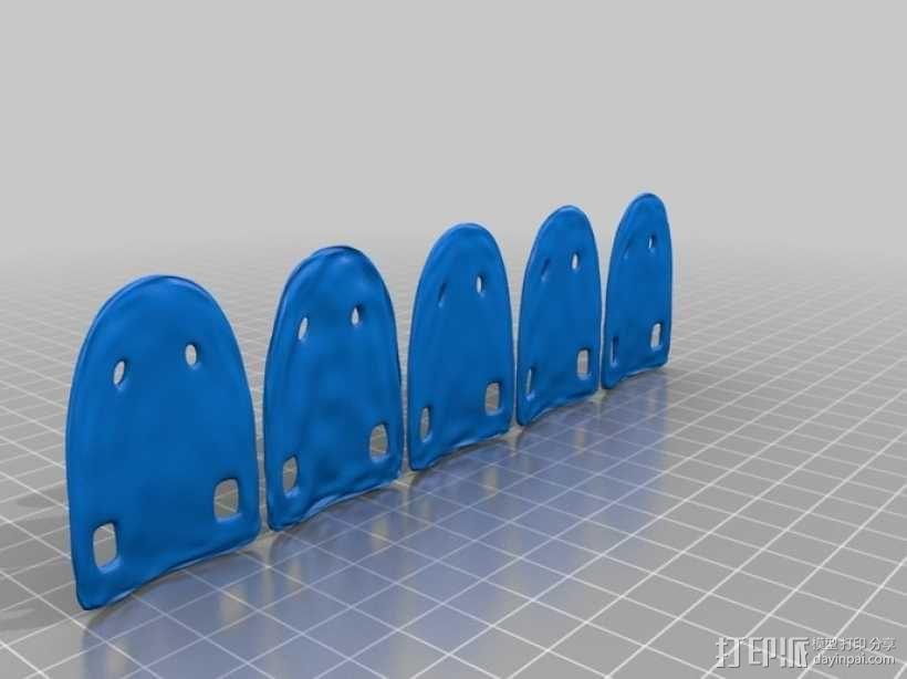 鳞片盔甲 3D模型  图7