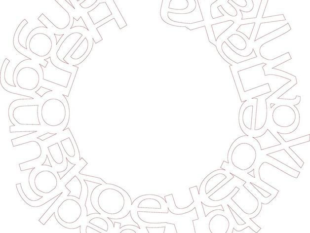 字母项链 3D模型  图1