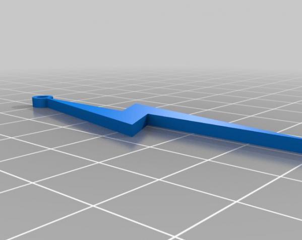闪电 耳坠 3D模型  图1