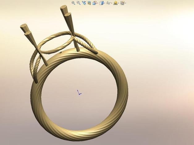 钻石戒指 3D模型  图2