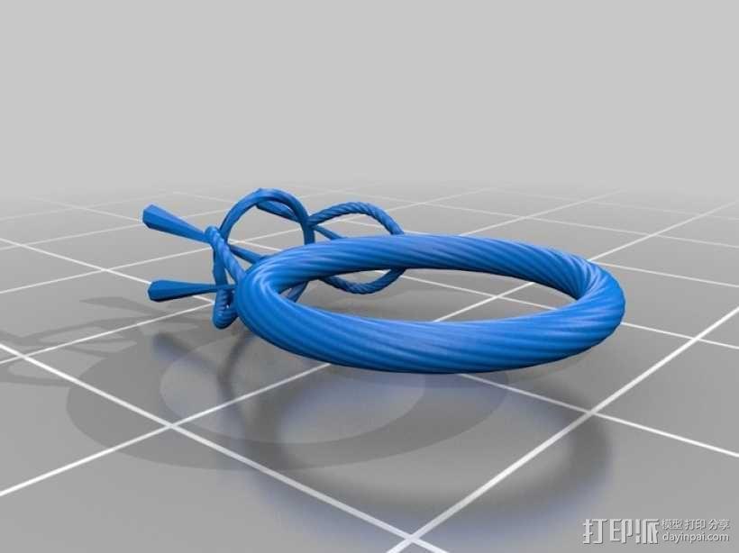 钻石戒指 3D模型  图3