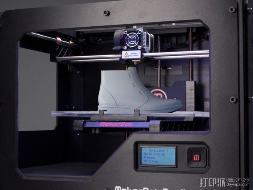 高帮鞋 3D模型  图1