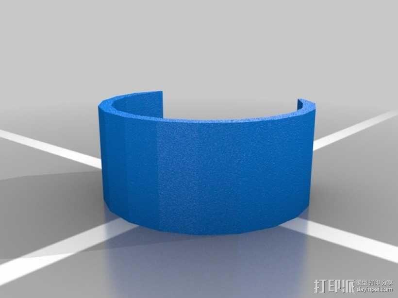 半开口手镯 3D模型  图2